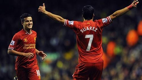 Suarez và Coutinho cùng rời Liverpool để gia nhập Barca. Ảnh: Reuters.