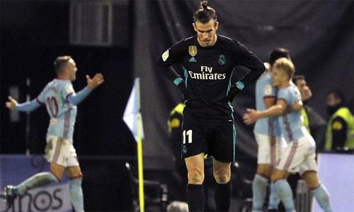 Cú đúp của Bale không thể giúp đội nhà giành ba điểm. Ảnh: EPA.