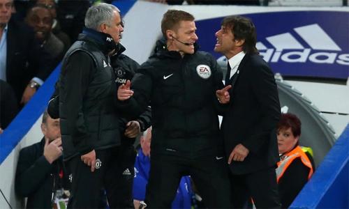 Conte và Mourinho liên tiếp công kích nhau trên mặt báo thời gian gần đây. Ảnh: AFP.