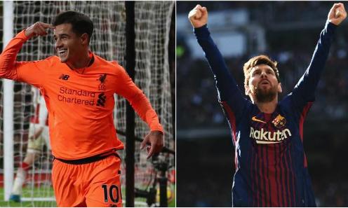 Coutinho và Messi đều là những cầu thủ tấn công giàu kỹ thuật. Ảnh:AFP.