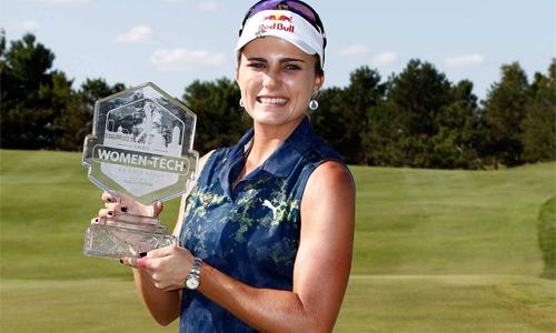Không phải là golfer đoạt nhiều cup nhất LGPA Tour 2017 nhưng Lexi Thompson là người giữ được phong độ ổn định nhất. Ảnh: Reuters.
