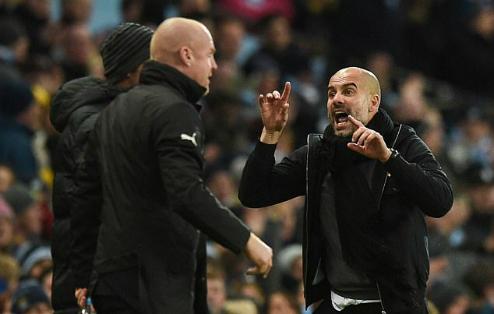 Guardiola phản ứng mạnh mẽ với đồng nghiệp. Ảnh:AFP.