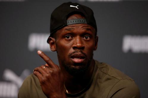 Bolt thử sức ở bộ môn thể thao trí tuệ. Ảnh:Reuters.