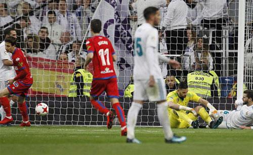 Numancia có hai lần gỡ hòa trong trận lượt về. Ảnh: Marca