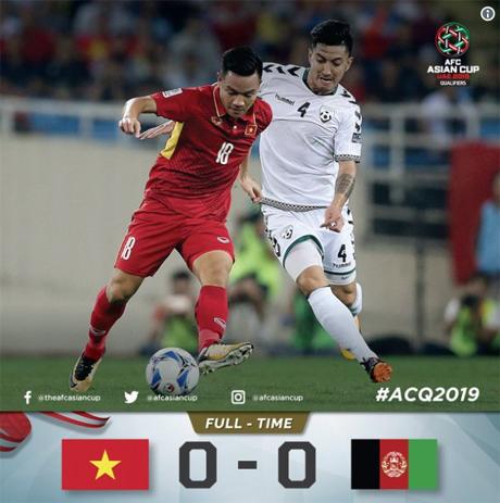 Hòa Afghanistan là đủ để Việt Nam có vé dự vòng chung kết Asian Cup.