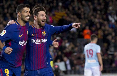 Messi lập cú đúp, Barca vào tứ kết Cup Nhà vua bằng trận đại thắng