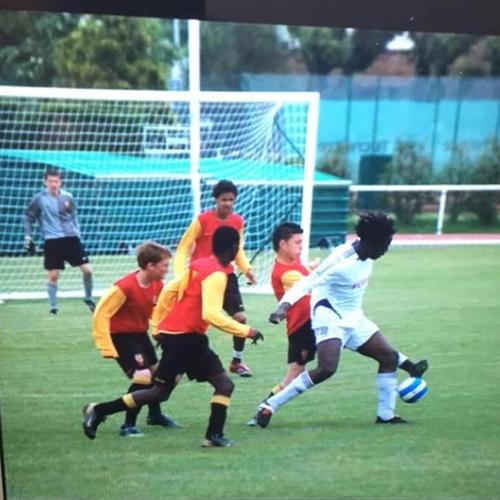 Lukaku khi còn chơi bóng tại Bỉ. Ảnh: Instagram.