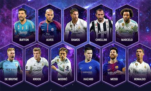 Đội hình tiêu biểu của UEFA 2017.