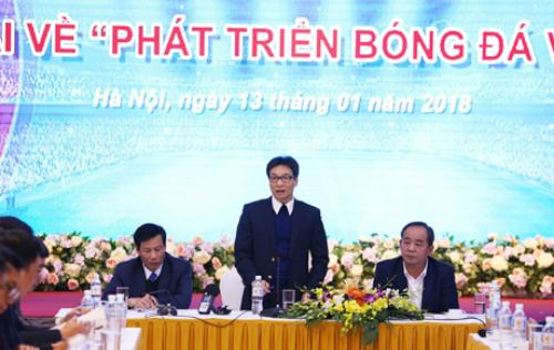 Phó Thủ tướng Vũ Đức Đam chủ trì đối thoại phát triển bóng đá Việt Nam.