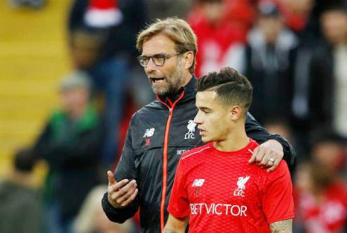 Klopp từng xem Coutinho là trung tâm trong lối chơi ở Liverpool. Ảnh:Reuters.