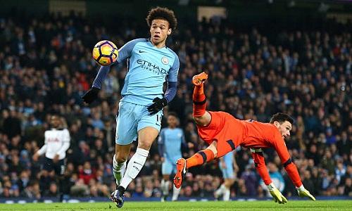 Sane là một trong những cầu thủ chạy cánh hay nhất Ngoại hạng Anh hiện nay. Ảnh: AFP.