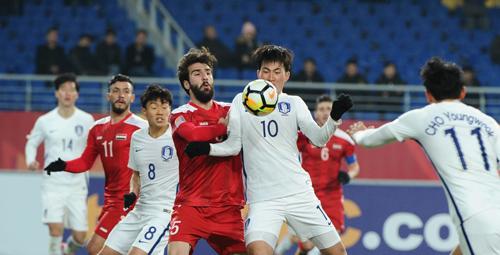Hàn Quốc và Syria bất phân thắng bại. Ảnh: AFC