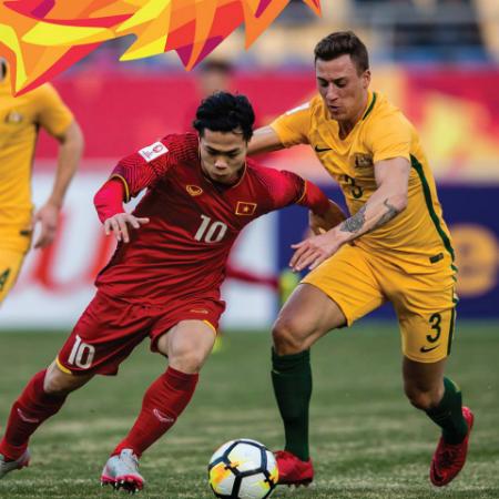Việt Nam có chiến thắng vang đội 1-0 trước Austrlia. Ảnh: AFC.