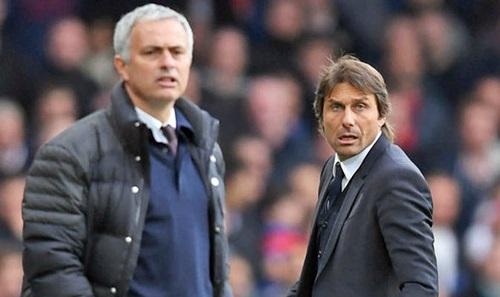 Mourinho và Conte khẩu chiến quyết liệt. Ảnh: PA.