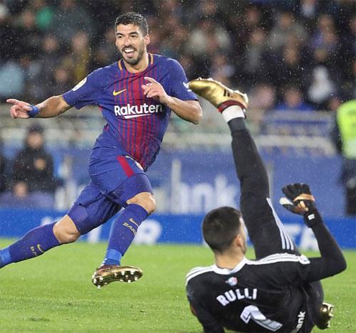 Luis Suarez đang lấy lại phong độ cao nhất. Ảnh: Reuters