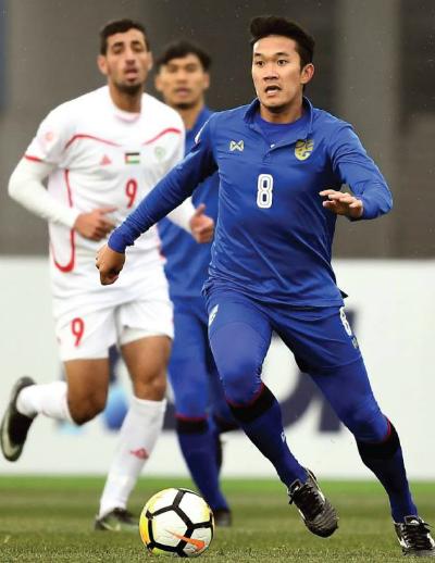 Thái Lan chia tay giải U23 châu Á bằng một trận thảm bại. Ảnh:AFC.