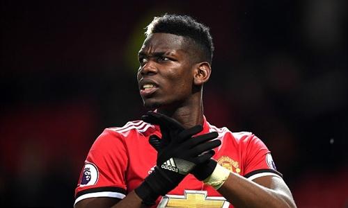Pogba chưa bỏ cuộc đua vô địch dù kém Man City 12 điểm. Ảnh: Reuters.