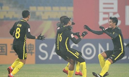 Malaysia làm nên lịch sử khi vào tứ kết U23 châu Á