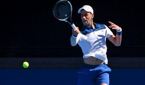 Djokovic không mất nhiều khó khăn để qua vòng một. Ảnh: SMH.