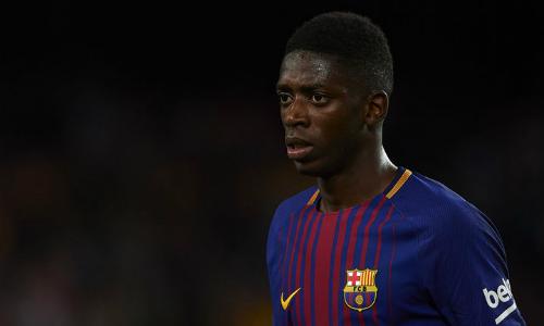 Những chấn thương liên tiếp dù mới 20 tuổi khiến Dembele trở thành canh bạc mạo hiểm của Barca. Ảnh:Reuters.