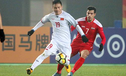 Cầm chân Syria 0-0, Quang Hải và đồng đội lần đầu vào tứ kết VCK U23 châu Á. Ảnh: Anh Khoa.