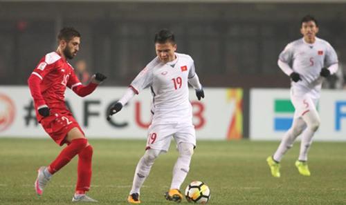 Việt Nam gây bất ngờ lớn khi giành vé vào tứ kết giải U23 châu Á. Ảnh: Anh Khoa