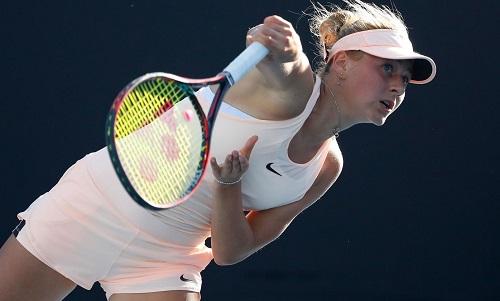 Kostyuk trở thành tay vợt trẻ nhất kể từMirjana Lucic-Baroni ở Mỹ Mở rộng 1997 lọt vào vòng ba Grand Slam. Ảnh: AUSO.