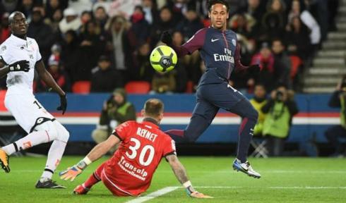 Neymar nâng số bàn thắng ở Ligue I lên 15. Ảnh:AFP.