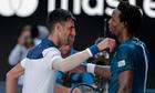 Djokovic hạ Monfils dưới cái nắng 39 độ ở Melbourne