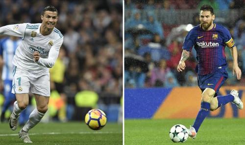 Pele luôn cho rằng Messi toàn diện hơn Ronaldo. Ảnh: AFP.