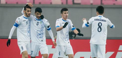 Các cầu thủ Uzbekistan tạo nên cơn địa chấn ở giải U23 châu Á. Ảnh:AFC.