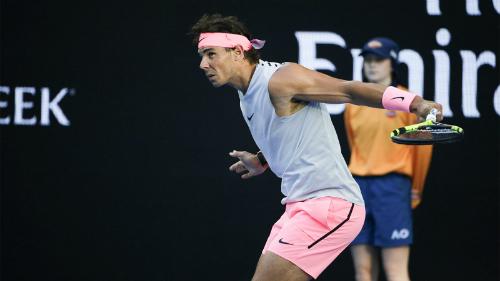 Nadal vào vòng bốn mà chưa thua setnào. Ảnh: Tennis Australia.