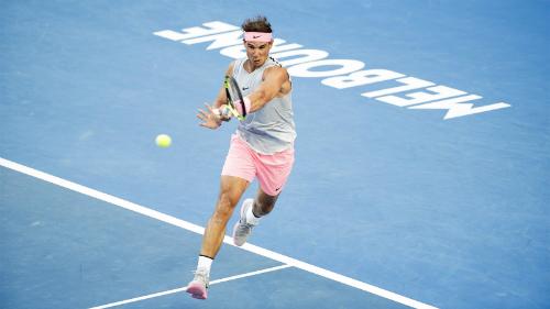 Nadal thể hiện sức mạnh của hạt giống số một. Ảnh: Tennis Australia.