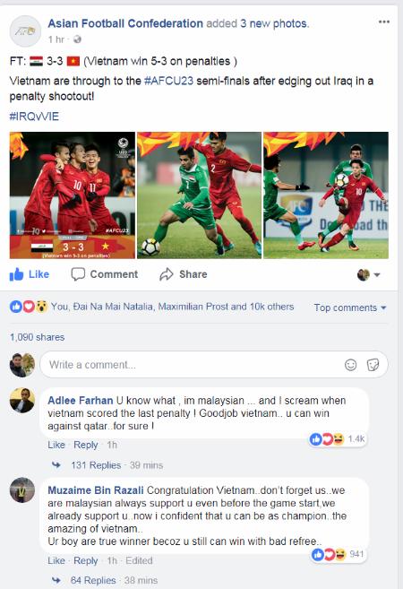 CĐV châu Á hò hét mừng trận Việt Nam thắng Iraq - 1