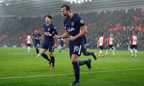 Bàn thắng của Kane không đủ giúp Tottenham chiến thắng. Ảnh: Reuters.