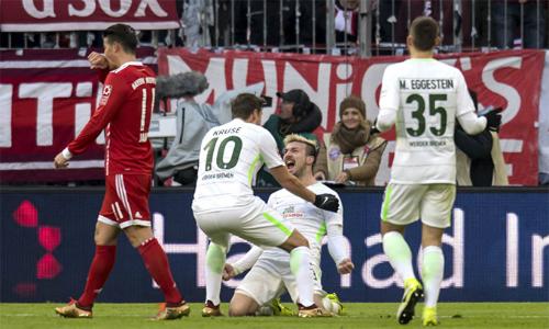 Bremen khởi đầu tốt, nhưng không thể bảo vệ thành quả. Ảnh: AP.