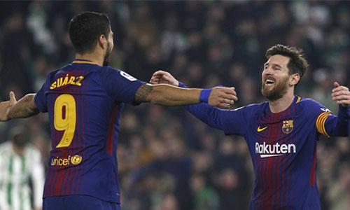 Messi, Suarez cùng ghi cú đúp, Barca tạo cách biệt mới