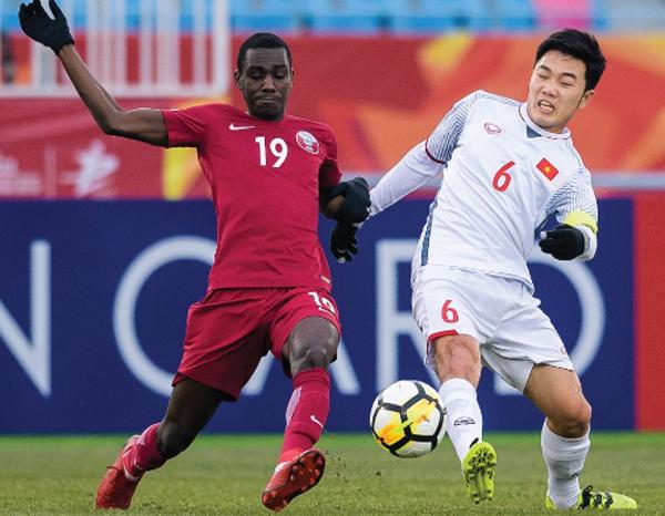 Những cầu thủ Việt Namđã có một trận đấu đầy tự tin. Ảnh: AFC.