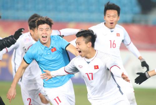 Lần đầu tiênbóng đá Việt Nam có đội lọt vào chung kết giải châu Á. Ảnh: Anh Khoa