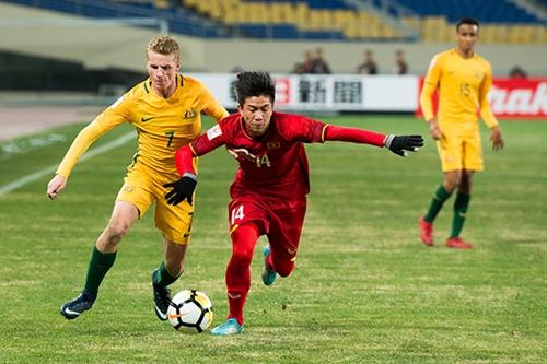 Bóng đá Việt Nam phát triển mạnh mẽ từ năm 2017. Ảnh: Sohu.