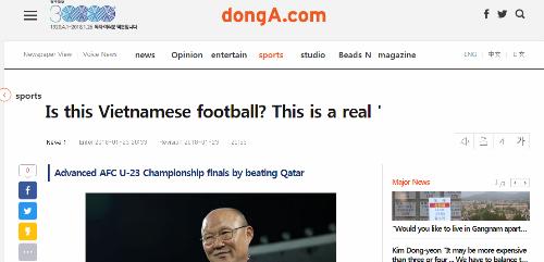 Bài viết trên báo DongA.