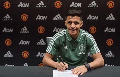 Sanchez nhận lương 19,5 triệu đôla mỗi năm ở Man Utd. Ảnh: ManUtd.