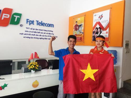 13.000 lá cờ được phát tặng trước trận chung kết U23 Việt Nam