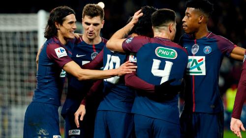 PSG có chiến thắng dễ dàng trước Guingamp. Ảnh:AFP.