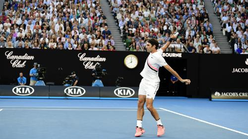 Federer vẫn chưa thua set nào ở giải năm nay. Ảnh: Tennis Australia.