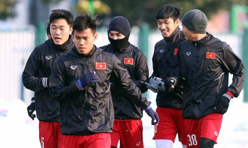 Cầu thủ Việt Nam tập buổi cuối trước chung kết U23 châu Á