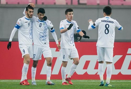 Uzbekistan là đội có lối chơi khoa học và đẹp mắt bậc nhất tại vòng chung kết U23 châu Á. Ảnh: AFC.