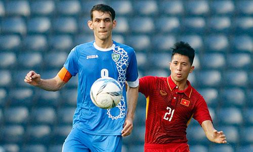 U23 Việt Nam từng thua Uzbekistan 1-2 tại Cup M-150 Thái Lan. Ảnh: Anh Khoa.