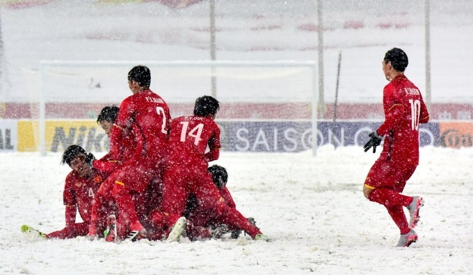 Trận khổ chiến dưới mưa tuyết của U23 Việt Nam - ảnh thể thao