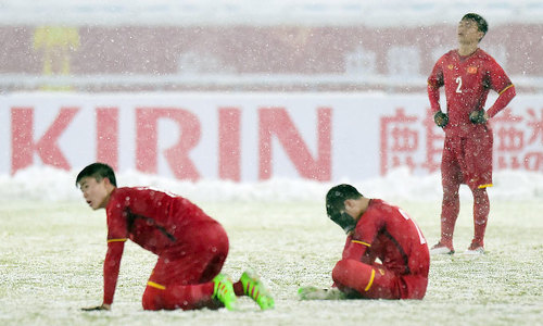 HLV Park Hang-seo quát các cầu thủ U23 Việt Nam: 'Chúng ta không phải cúi đầu'